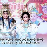 Chuyện Showbiz: Đàm Vĩnh Hưng mặc áo nặng 20kg đầy uy nghi tại Táo Xuân 2021