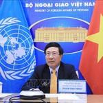 Phó Thủ tướng, Bộ trưởng NG Phạm Bình Minh kêu gọi cộng đồng quốc tế coi vaccine là tài sản chung