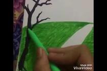 Vẽ tranh bằng bút lông màu - P4
