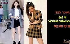 Suzy, Yoona bật mí cách mix chân váy chữ A trẻ như nữ sinh