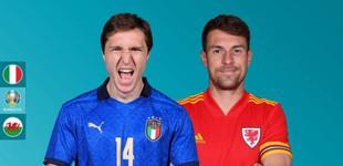 Lịch thi đấu bóng đá EURO 2021 hôm nay 20/6: Italia đối đầu Xứ Wales